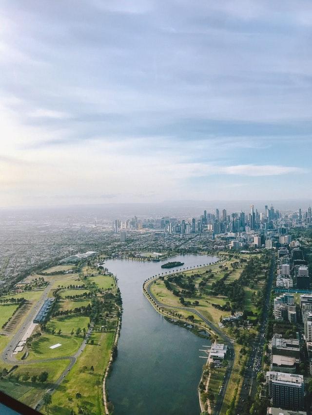 Top shot of Melbourne